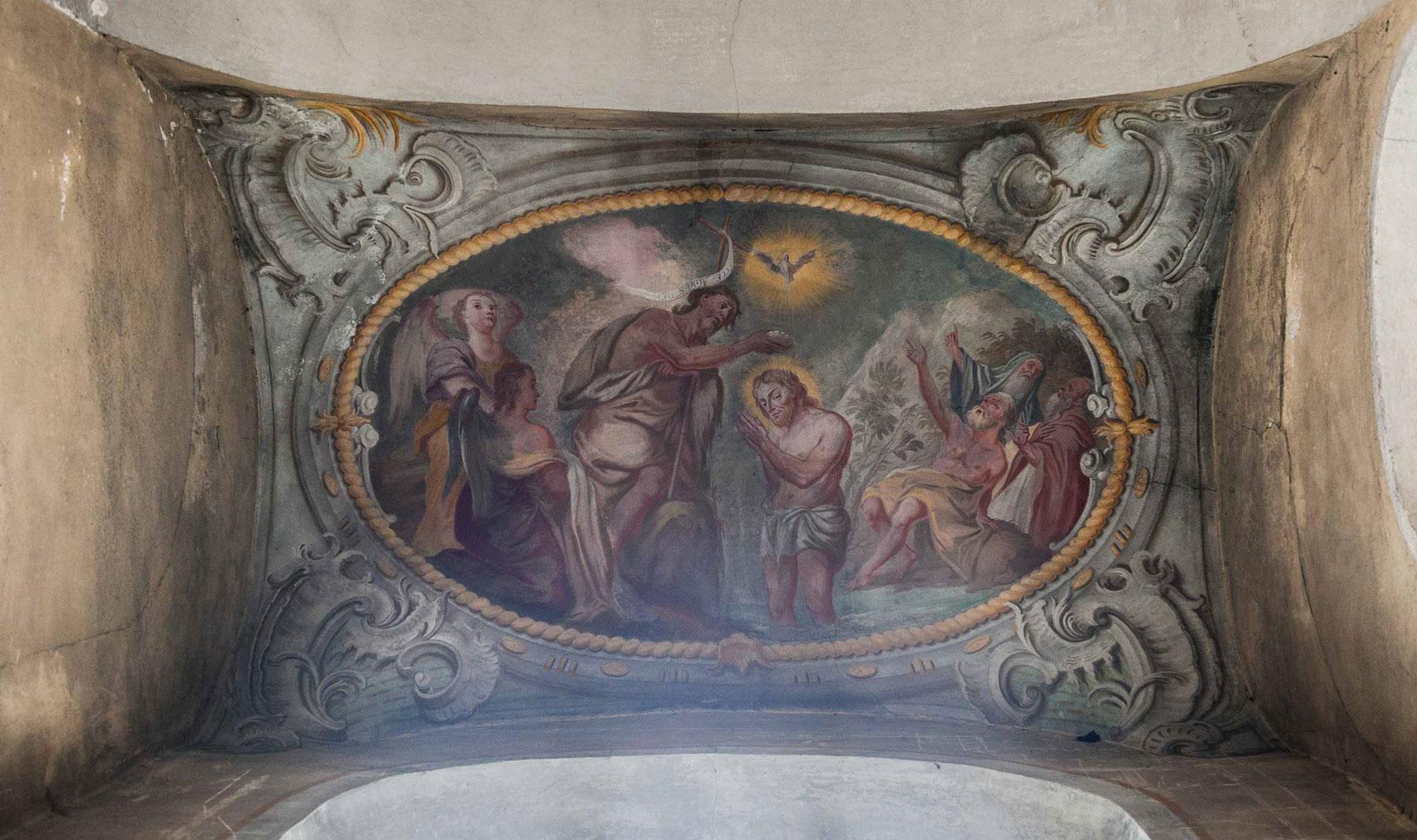 Spätbarocke Deckenmalerei von Johann Jakob Zeiller