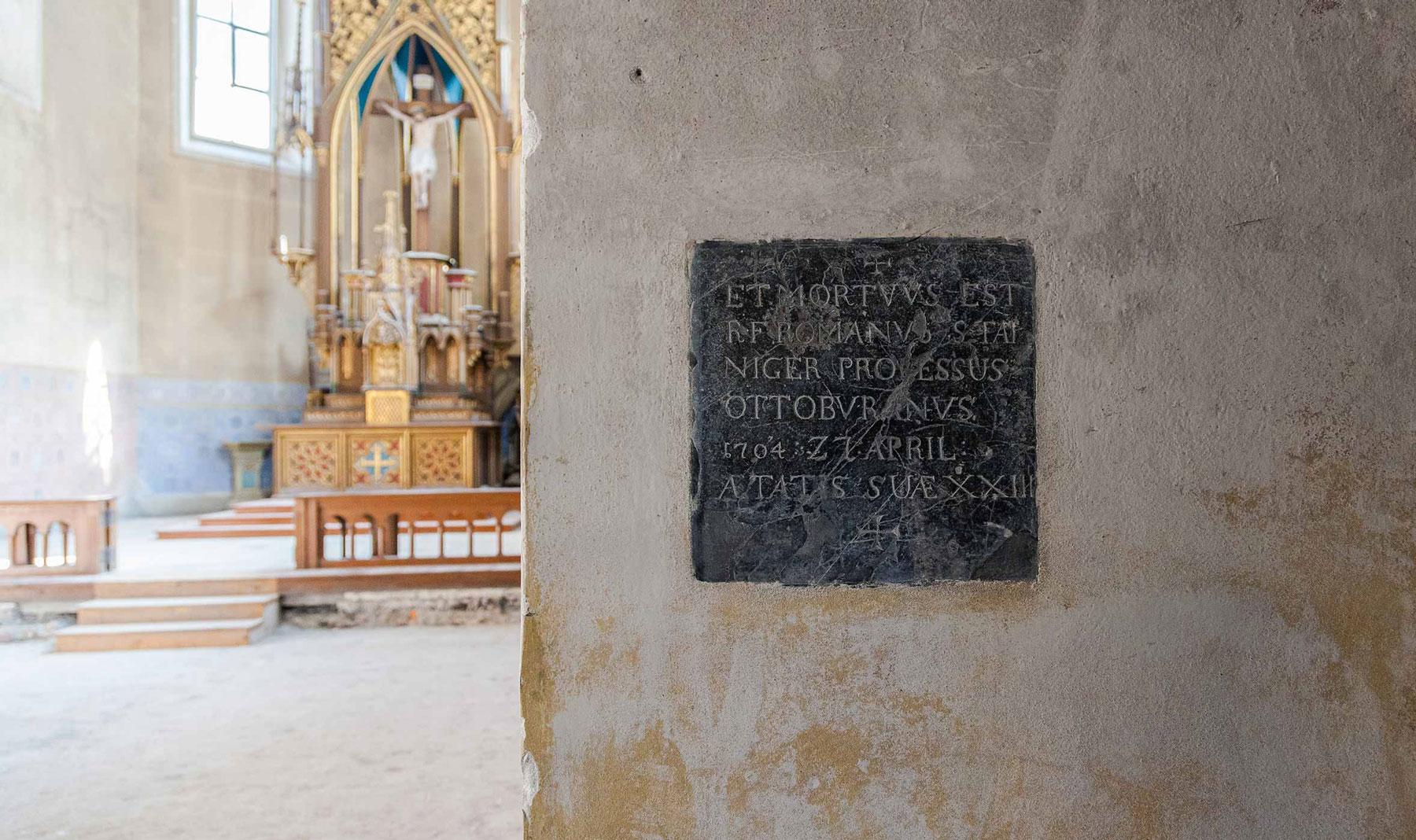 Grabtafel eines Mönchs von Ottobeuren