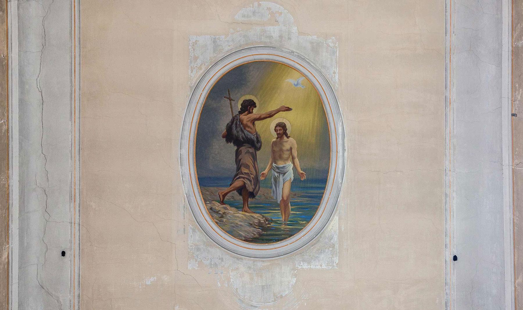 """Deckengemälde """"Taufe Jesu"""" von Florus Scheel"""